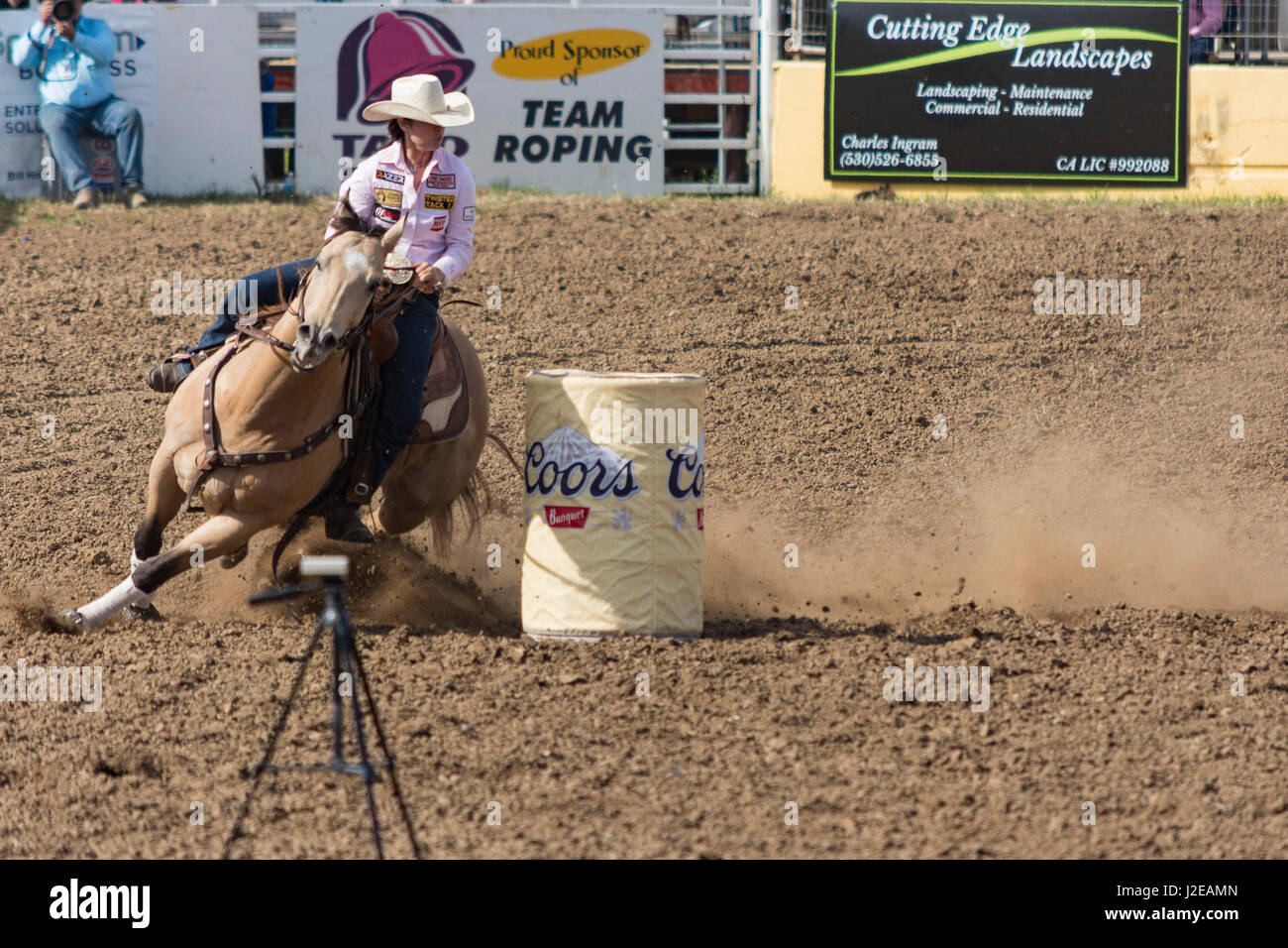 Red Bluff rodeo Roundup 2017 - Stock Image
