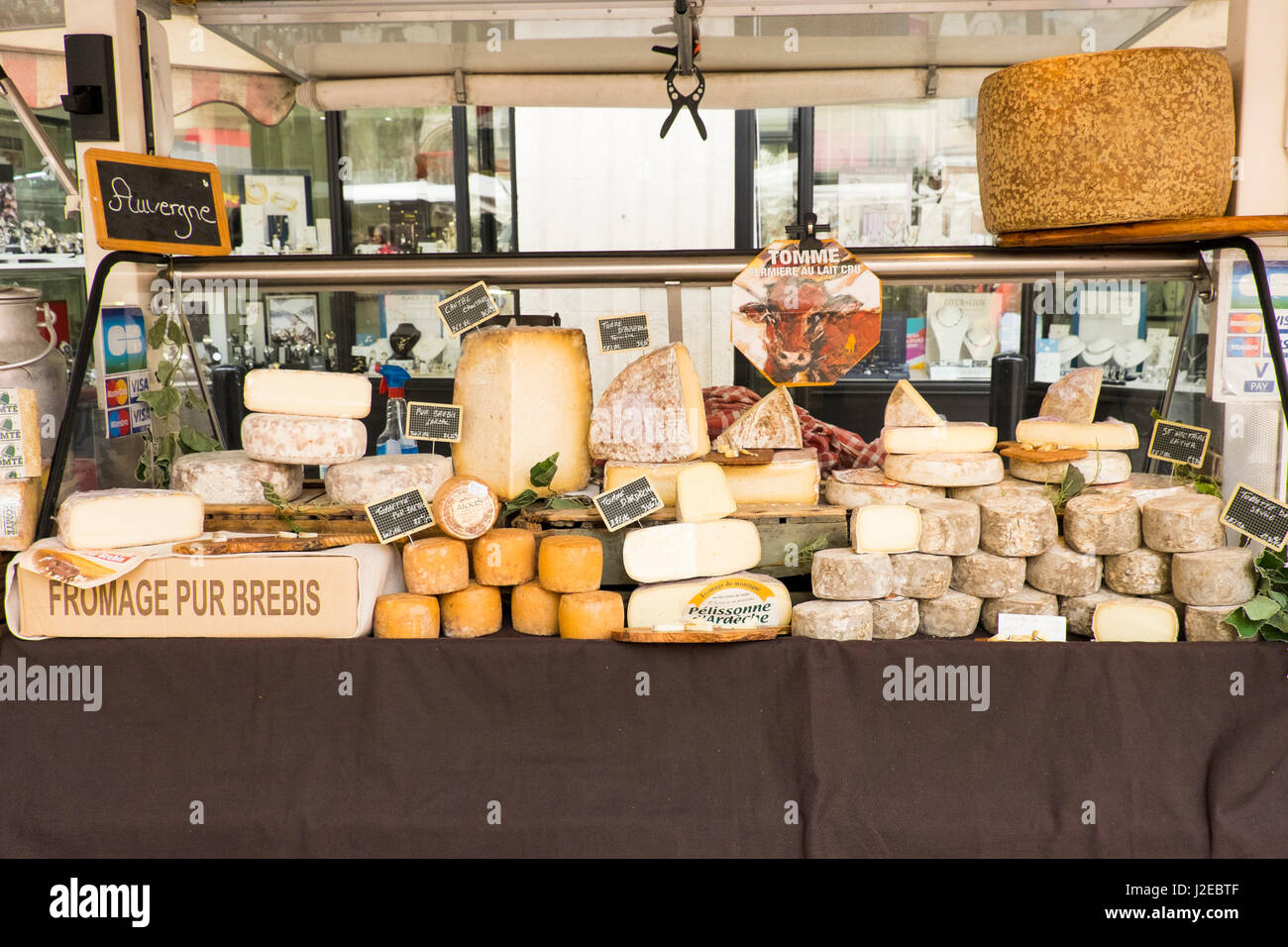 southern france st remy street market cheese shop editorial rh alamy com