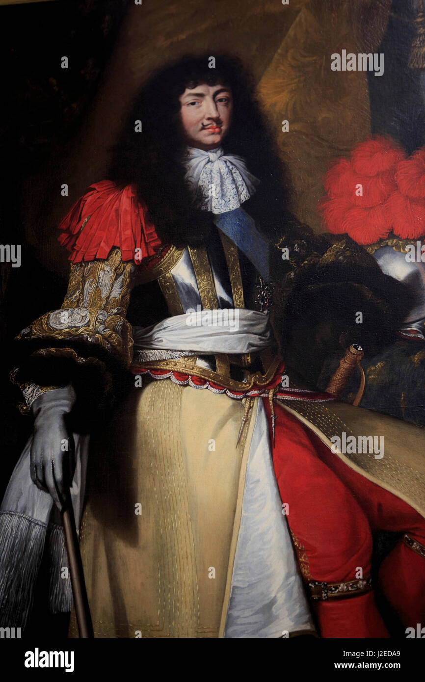 A painting of Louis XIV done by Claude Lefebvre and on