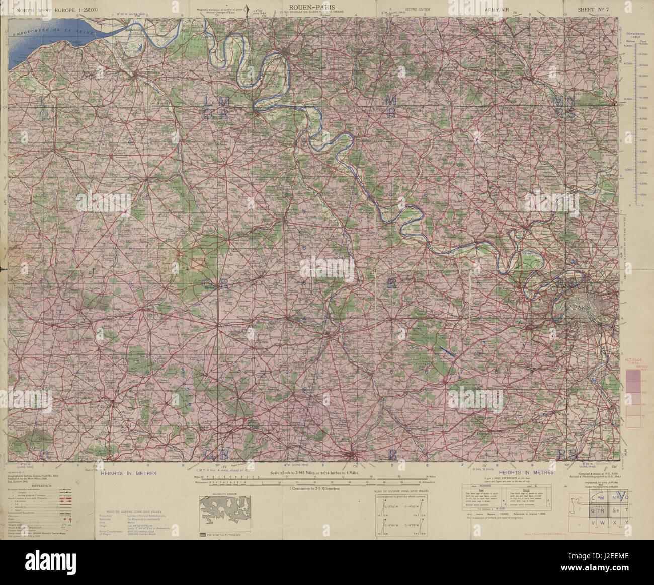 Normandyile de france world war 2 pre d day military intelligence normandyile de france world war 2 pre d day military intelligence map 1943 gumiabroncs Images