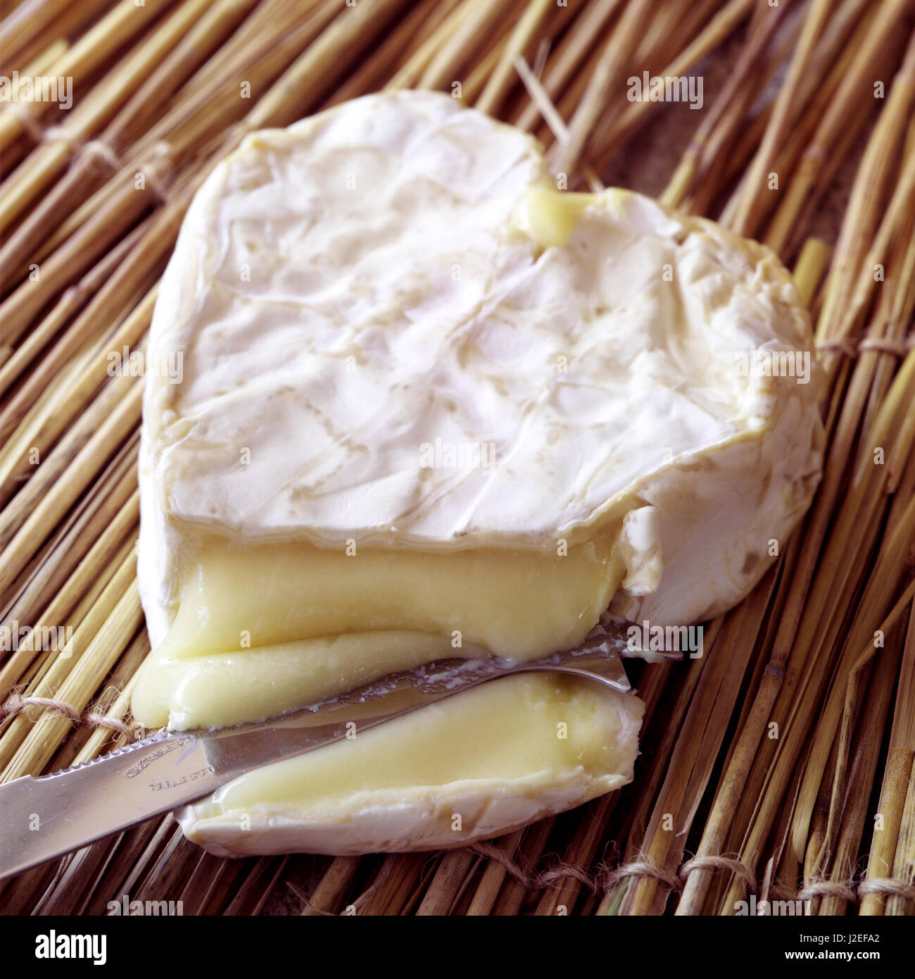 Neufchatel heart shaped cheese - Stock Image