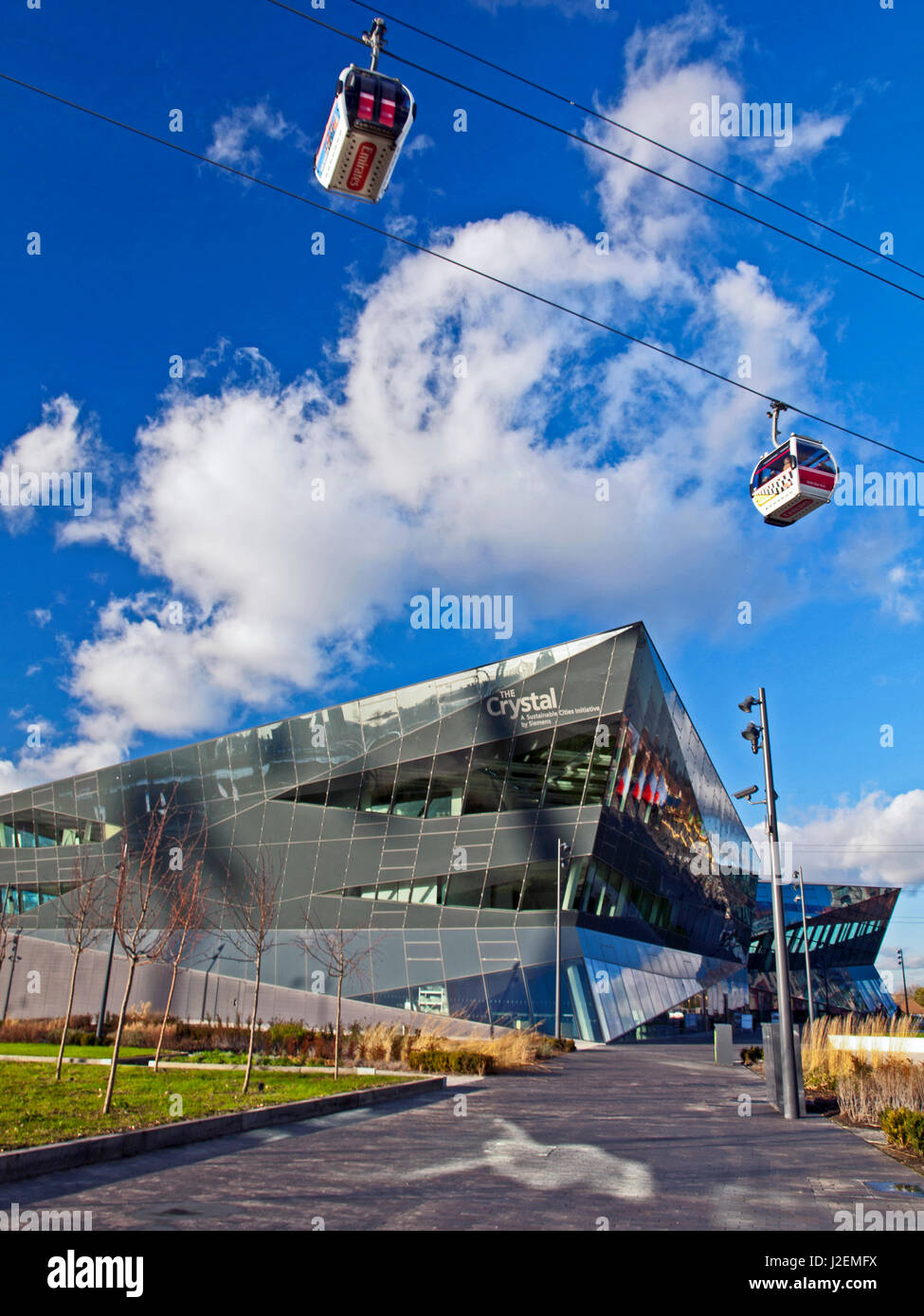 Europe, United Kingdom, England, East London, Royal Victoria Dock. The Crystal building, owned and operated by Siemens - Stock Image