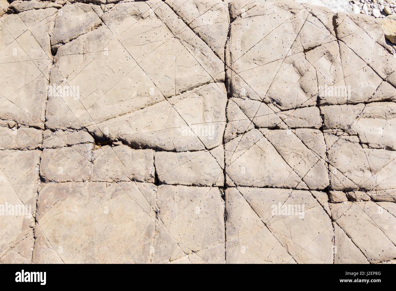 Flysch texture detail in Strait gibraltar Stock Photo