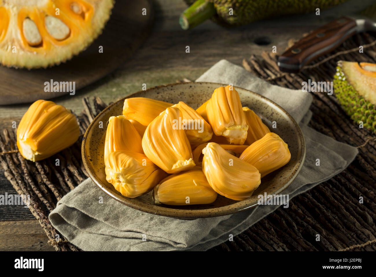 Homemade Organic Fresh Jackfruit Ready to Eat - Stock Image