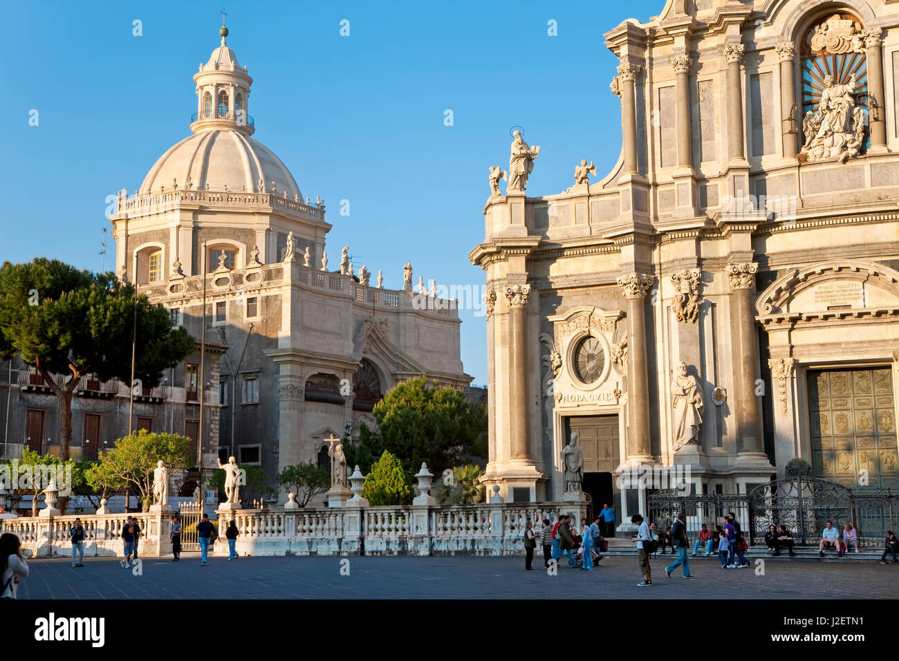 Exterior view of the Sant Agata Cathedral, Catania, Sicily, Italy - Stock Image