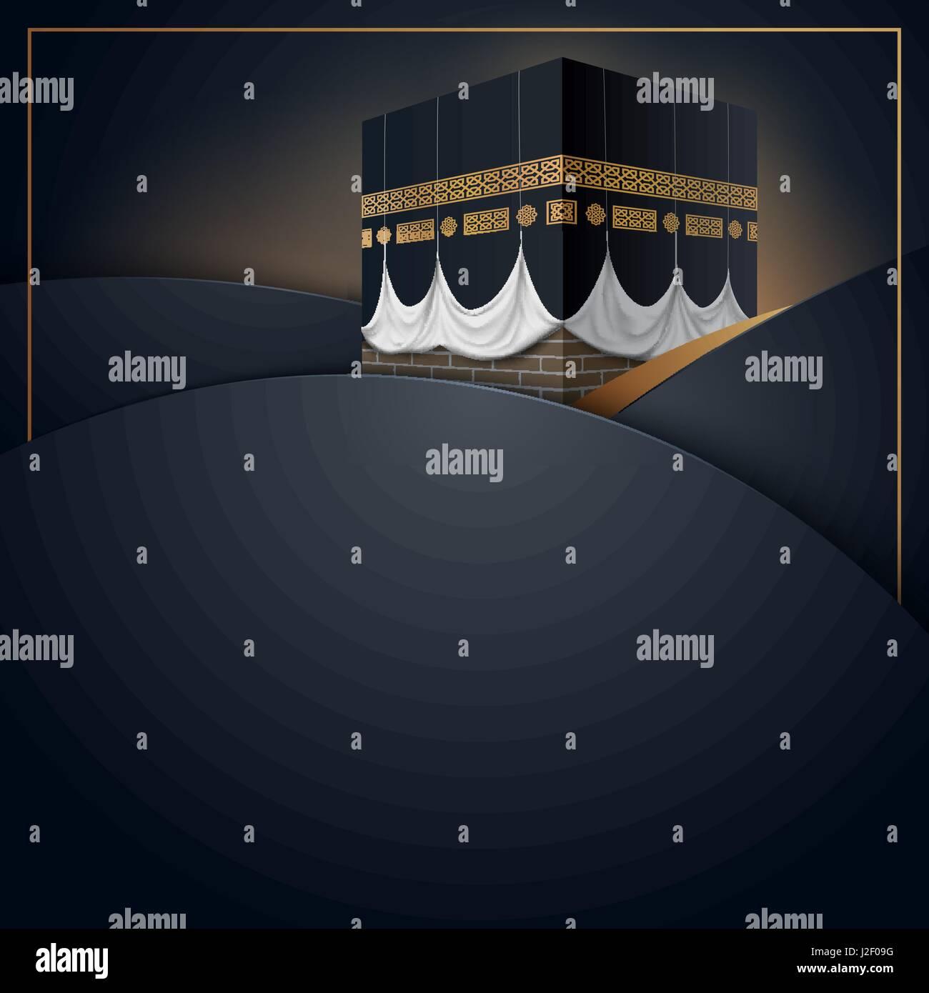 Islamic vector design kaaba icon for hajj and ramadan or eid islamic vector design kaaba icon for hajj and ramadan or eid greeting card template m4hsunfo