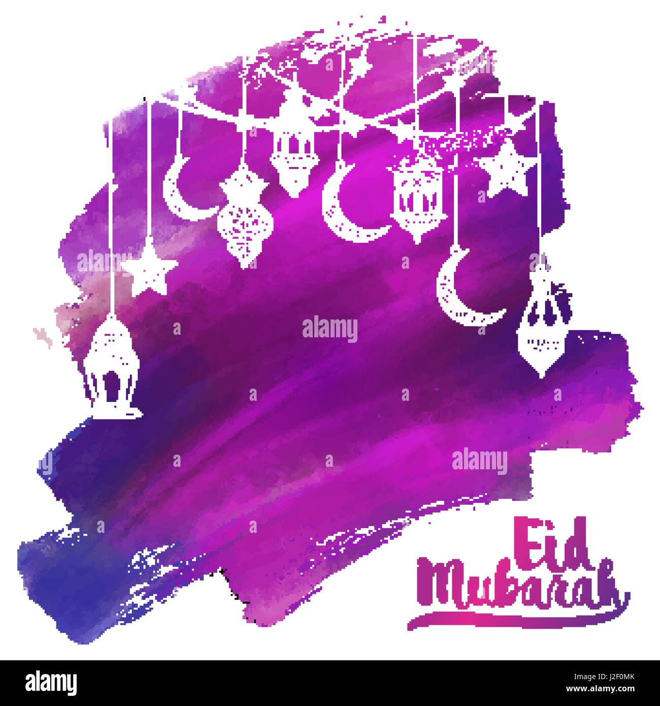 Eid Mubarak Greeting Card Template Cut Out Stock Images Pictures
