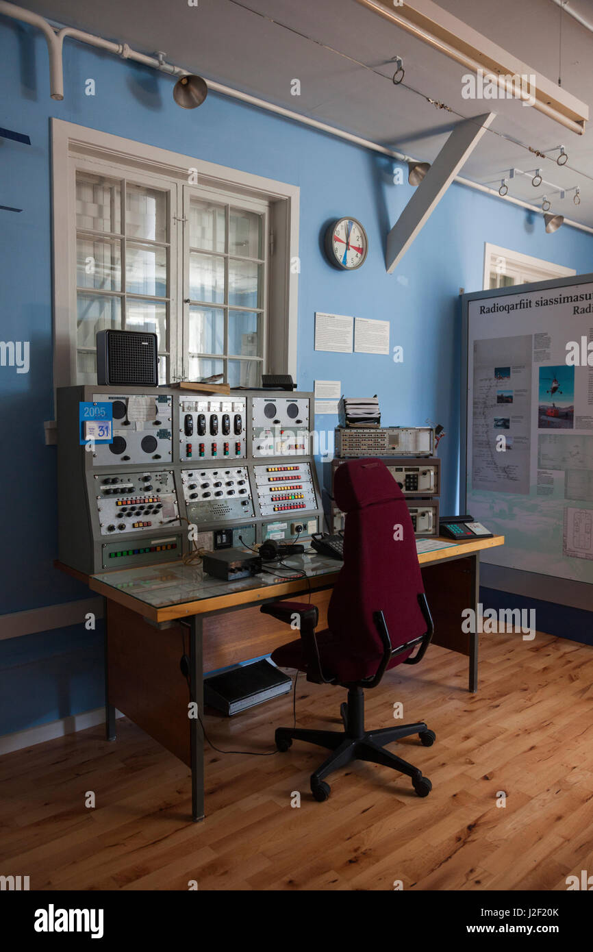 Greenland, Qaqortoq, Tele Museum, communications museum in former mountainside radio station, editorial release - Stock Image