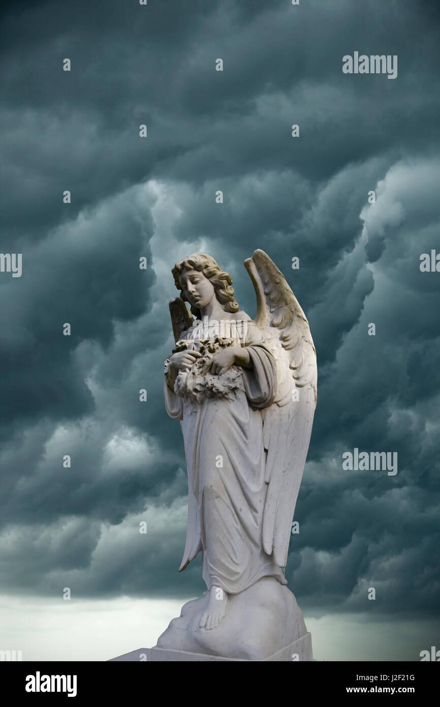 Artistic creation of angel and dark clouds. Credit as: Jim Zuckerman / Jaynes Gallery / DanitaDelimont.com - Stock Image