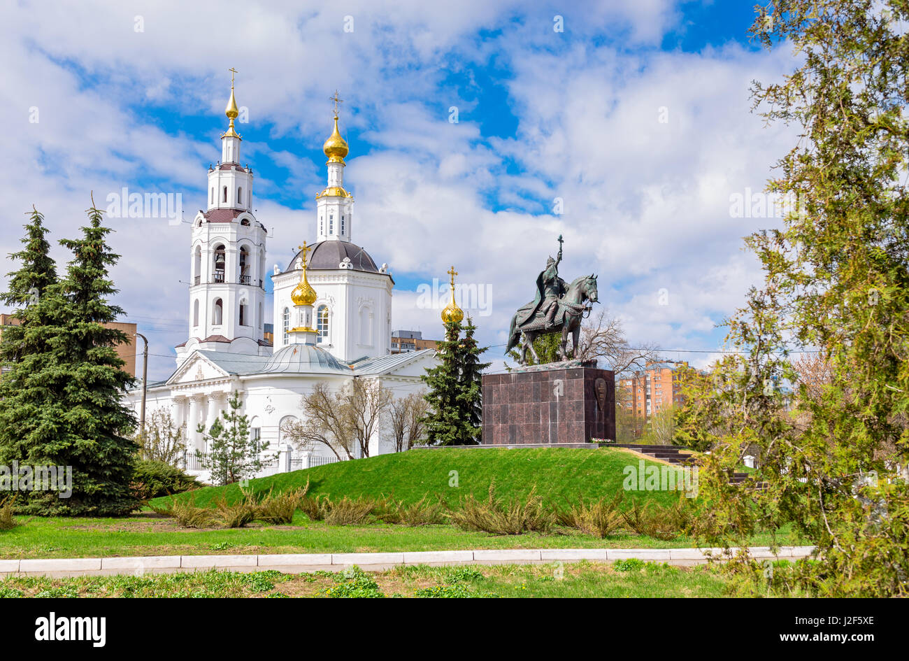Epiphany Cathedral in Oryol Russia - Stock Image