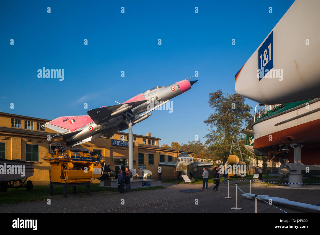Germany, Rhineland-Pfalz, Museum Speyer, Mig 21 jet fighter in Indian Airforce markings - Stock Image