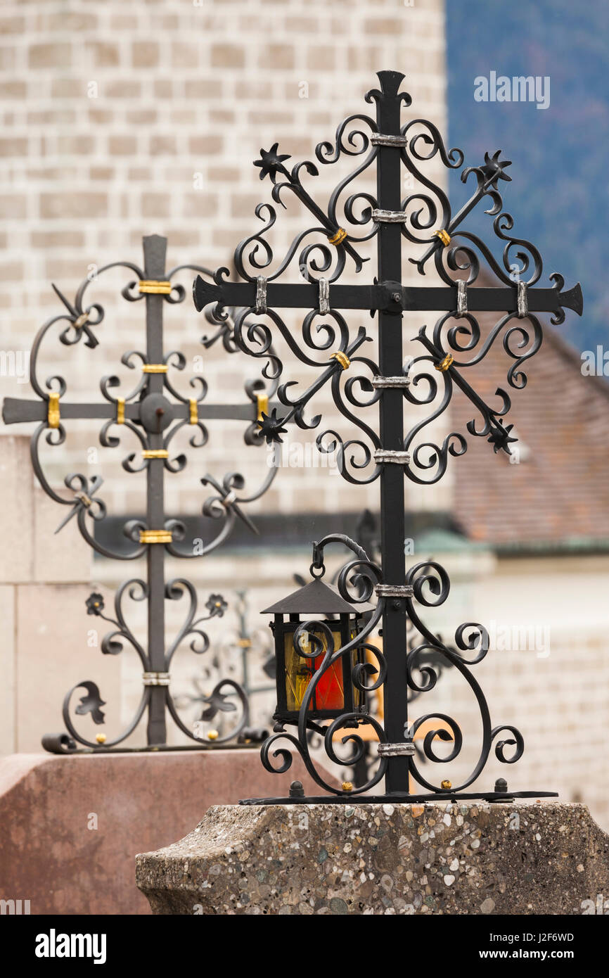 Germany, Bavaria, Ruhpolding, St. Georg Kirche church, details - Stock Image