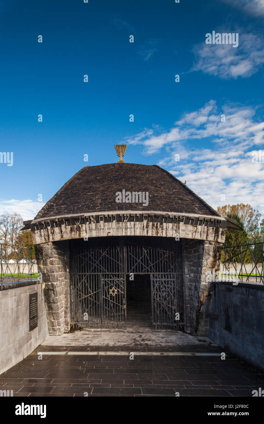Germany, Bavaria, Munich-Dachau, WW2-era Nazi concentration camp, Jewish Memorial built in 1967 - Stock Image
