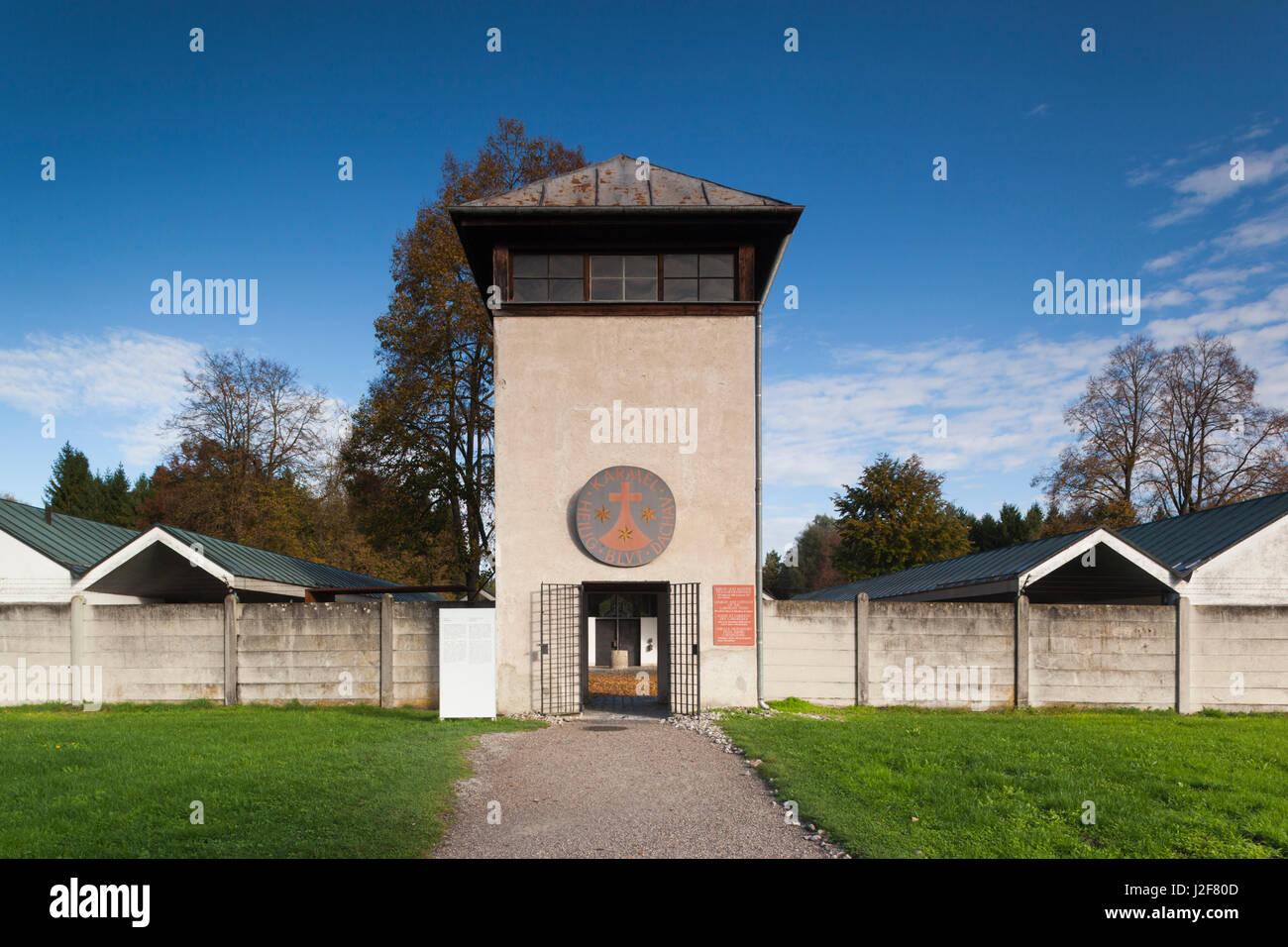 Germany, Bavaria, Munich-Dachau, WW2-era Nazi concentration camp, Carmelite Holy Blood Convent, built in 1964 - Stock Image
