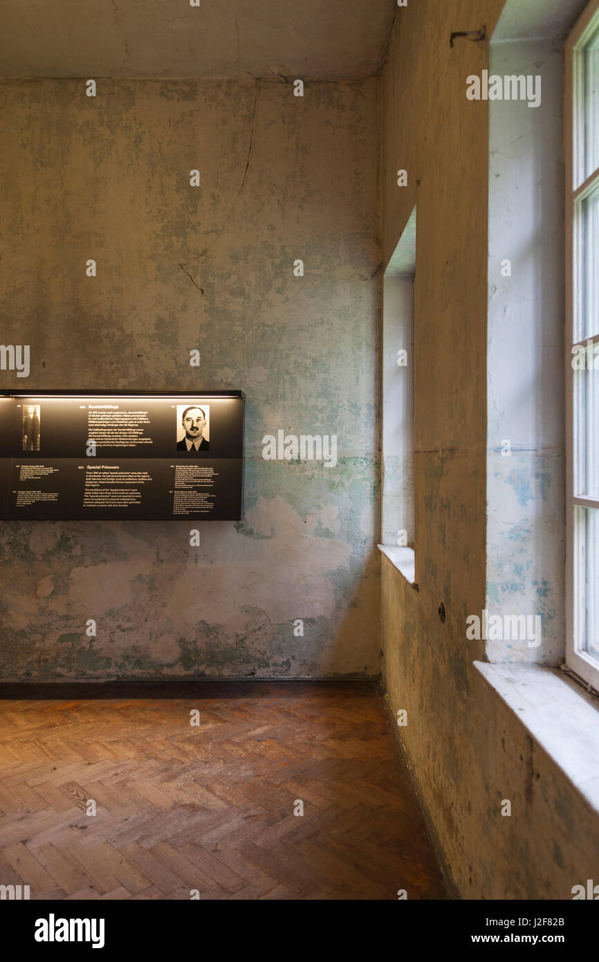 Germany, Bavaria, Munich-Dachau, WW2-era Nazi concentration camp, museum interior - Stock Image