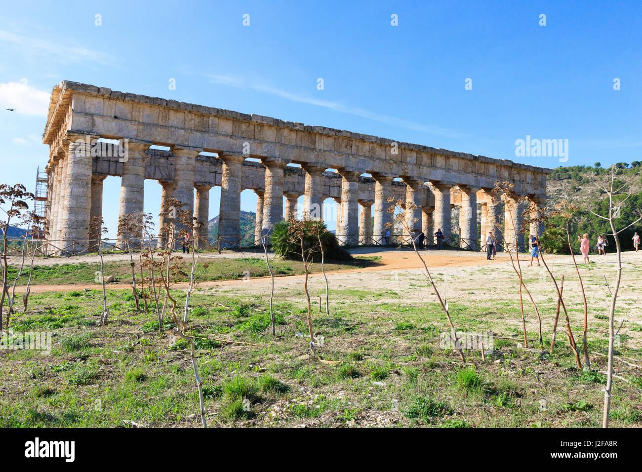 Dorian Temple of Segesta. 5th Century BC. Sicily, Italy - Stock Image