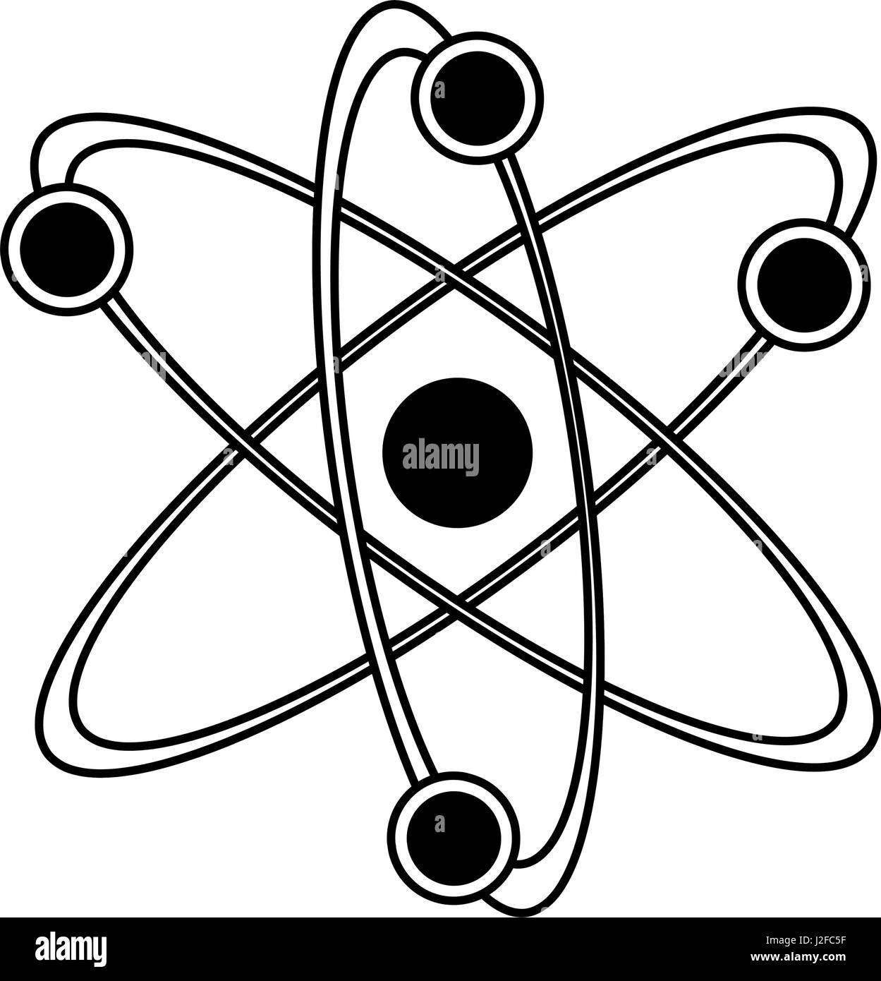 atom representation icon image  - Stock Image