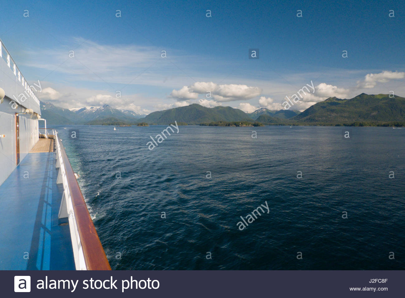 View of Sitka from Sitka Sound, Alaska, USA - Stock Image