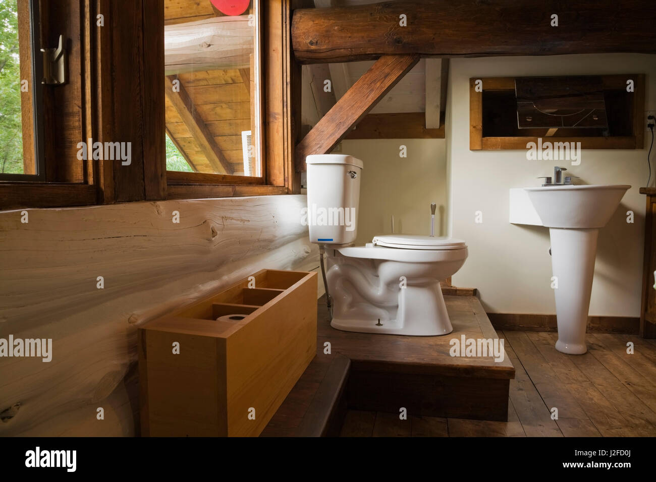 Toilet And Sink Exposed In The Open In The Master Bedroom On