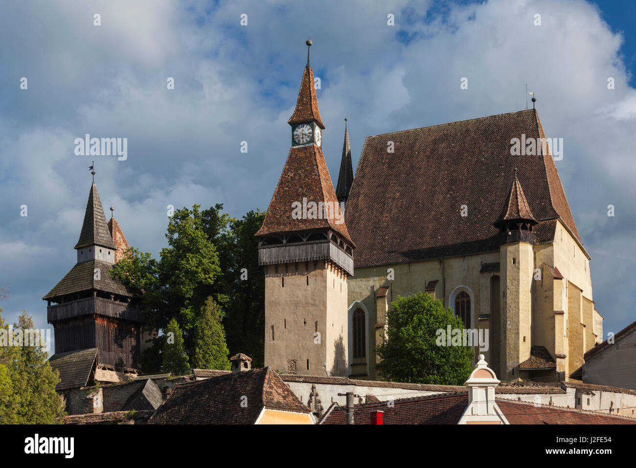 Romania, Transylvania, Biertan, 15th century fortified Saxon Church - Stock Image