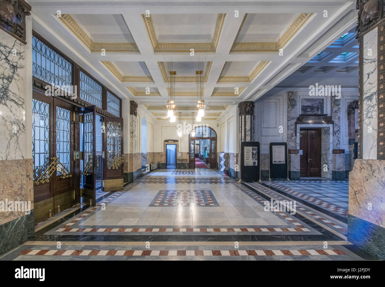 Croatia, Zagreb, Croatian State Archives (Large format sizes available) - Stock Image