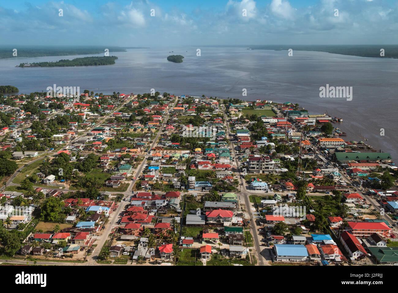 bartica town essequibo river guyana longest river in guyana stock