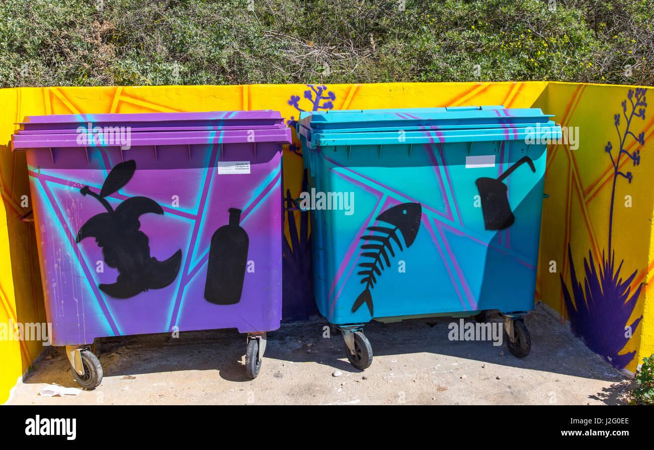 Waste bins - Stock Image