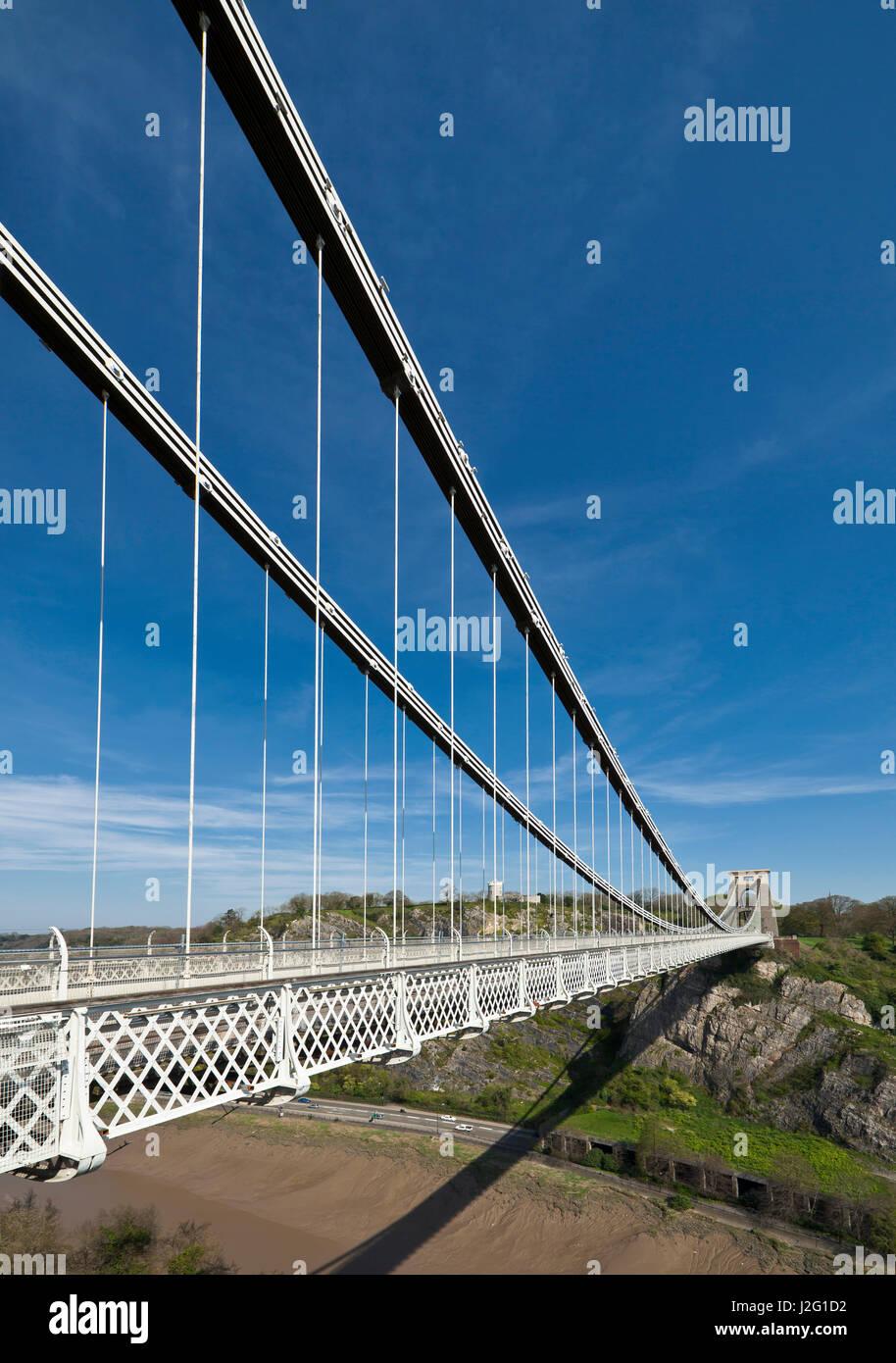 Clifton Suspension bridge. - Stock Image
