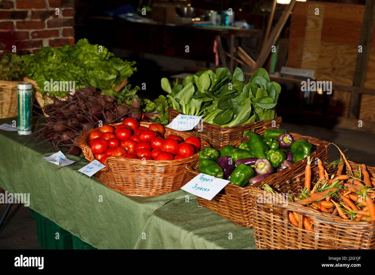 The Community Supported Agriculture (CSA) pick-up at the