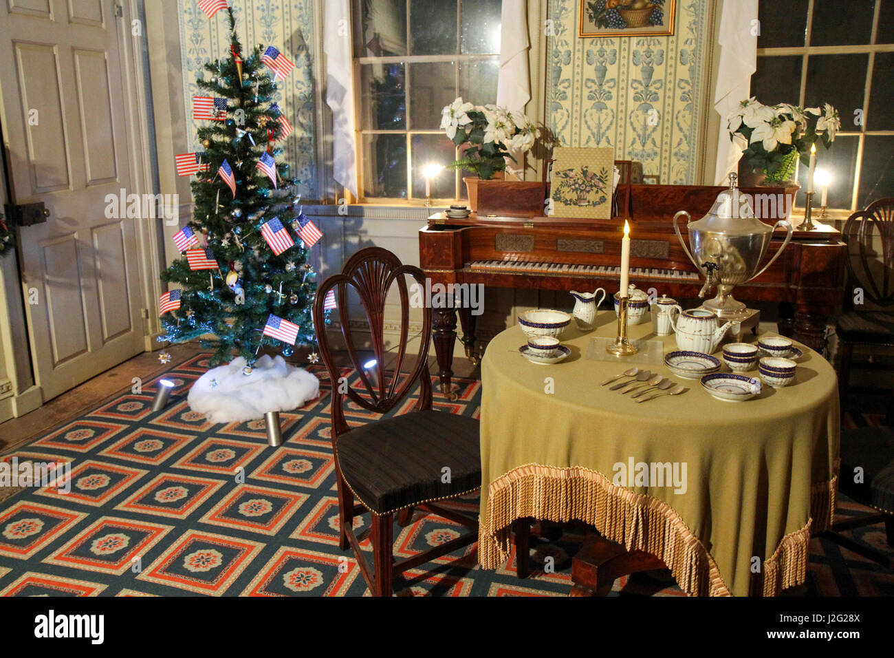 Christmas by Candlelight inside the Salem Towne House at Old Stock ...