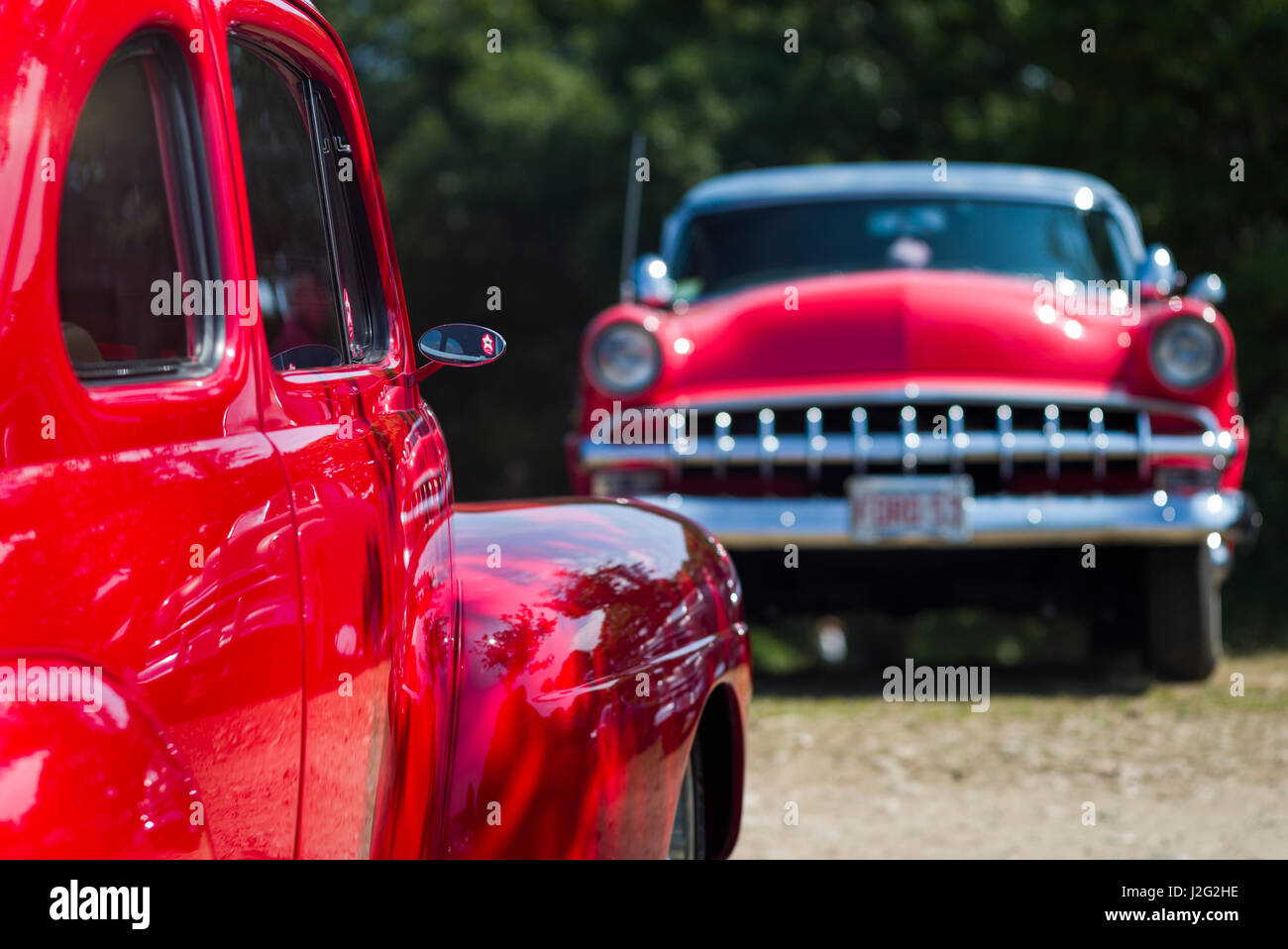 USA, Massachusetts, Cape Ann, Gloucester, Antique Car Show, 1950\'s ...