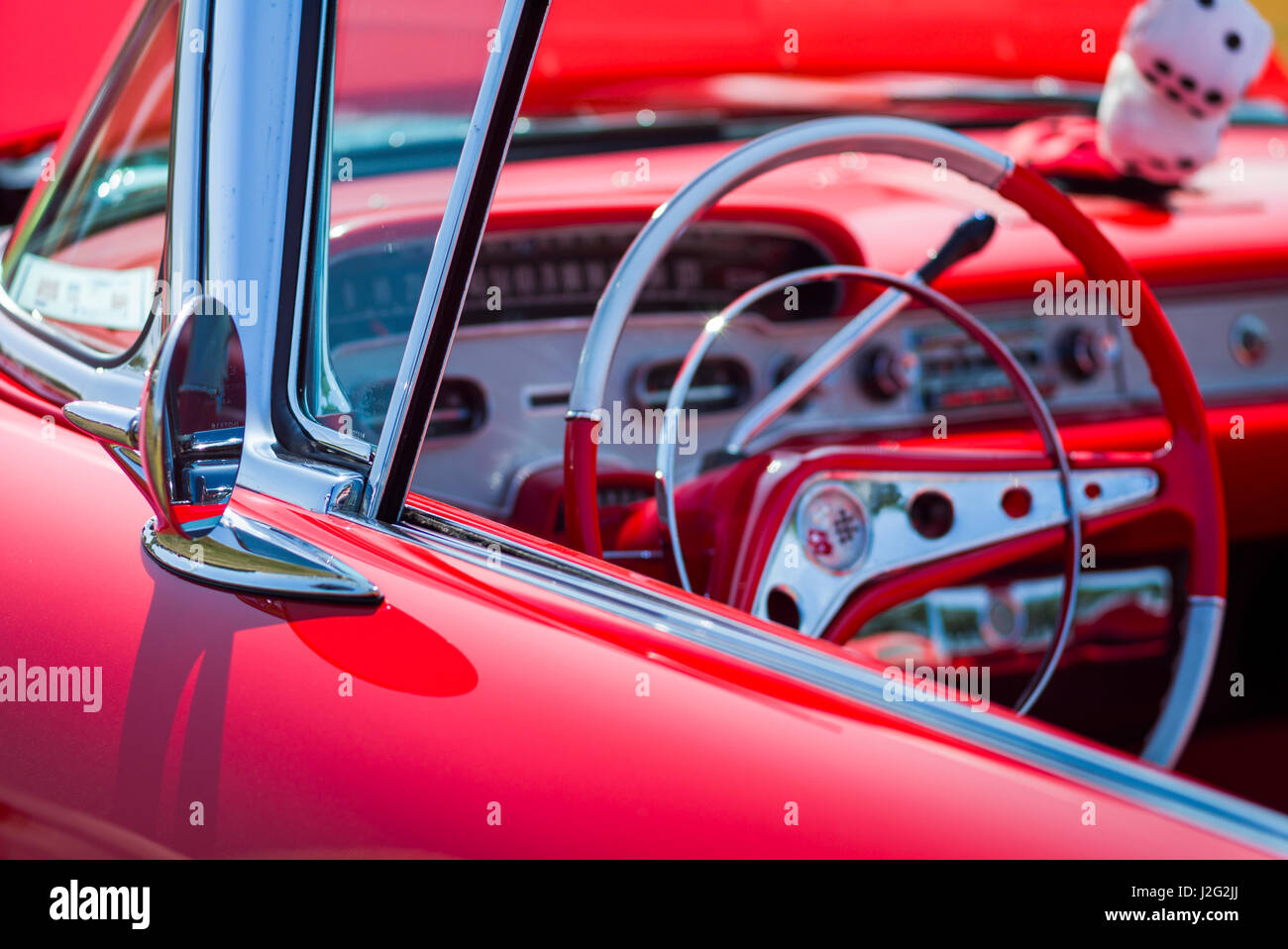 USA, Massachusetts, Cape Ann, Gloucester, Antique Car Show, classic ...