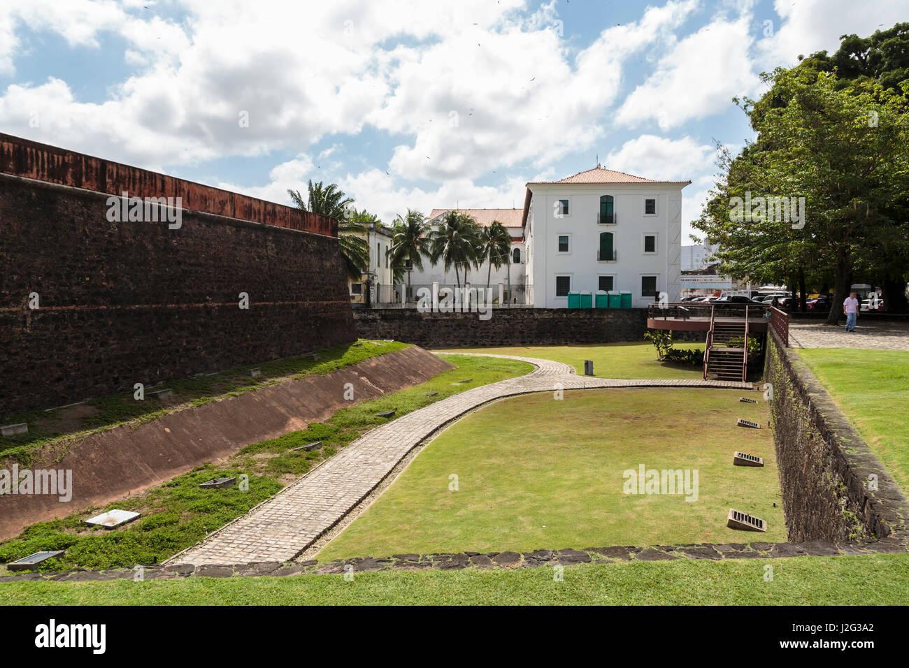 South America, Brazil, Belem. Moat of Presepio Fort. - Stock Image