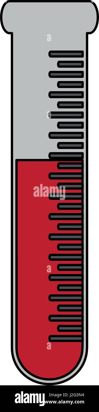 color graphic test tube icon microbiology equipment - Stock Image