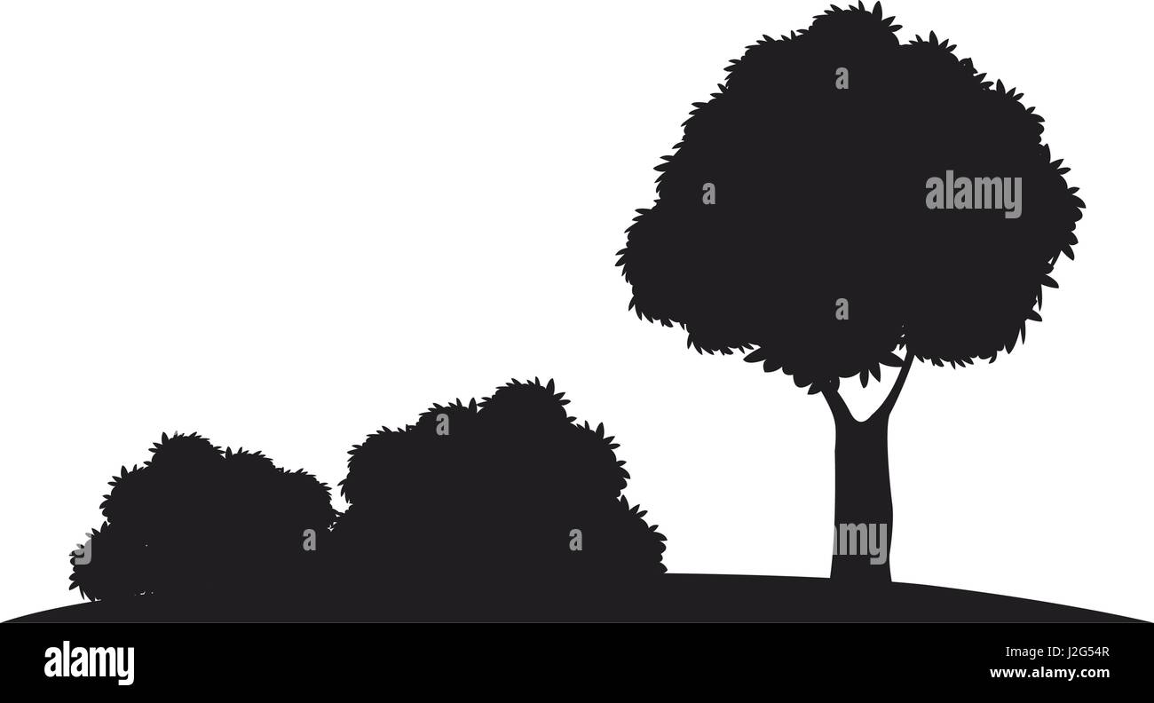 Thorn bush Silhouette Vector, Clipart Images, Pictures
