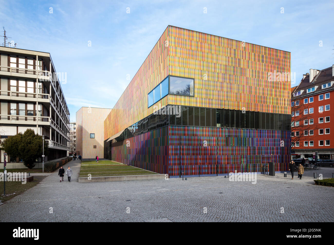 Munich, 5th February 2071: Museum Brandhorst Art collection exhibition building on a clear, sunny winter's day. - Stock Image