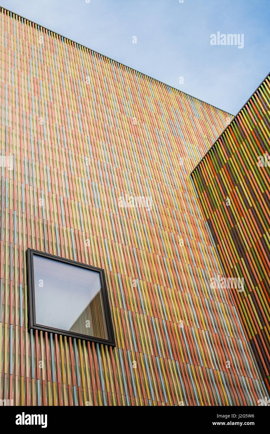 Munich, 5th February 2071: Looking up at the Museum Brandhorst Art collection exhibition building's facade on - Stock Image
