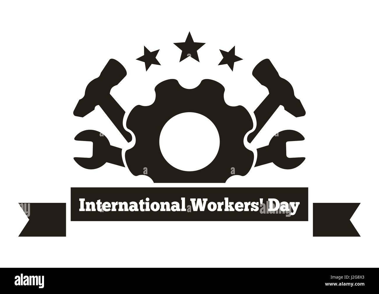 International workers day labor day logo may day workers day international workers day labor day logo may day workers day greeting card vector illustration isolated on white background m4hsunfo