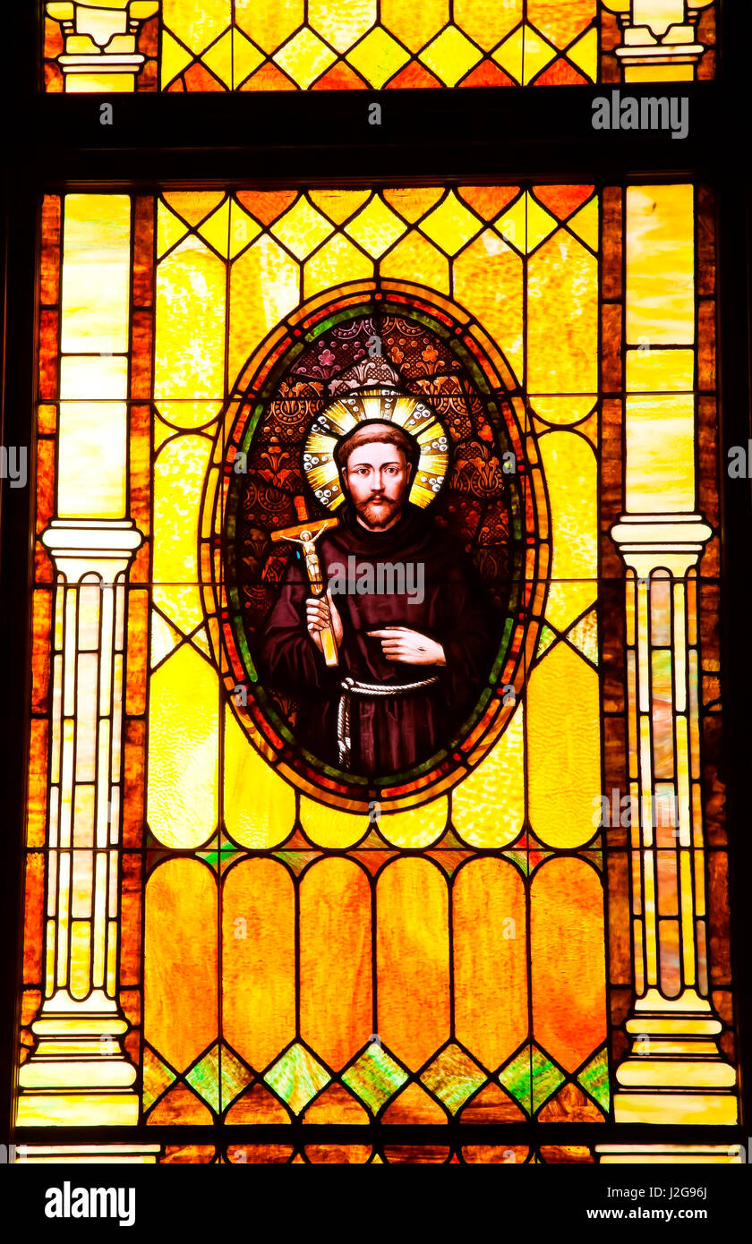Stained Glass San Diego.Friar Junipero Serra Founder Of California Missions