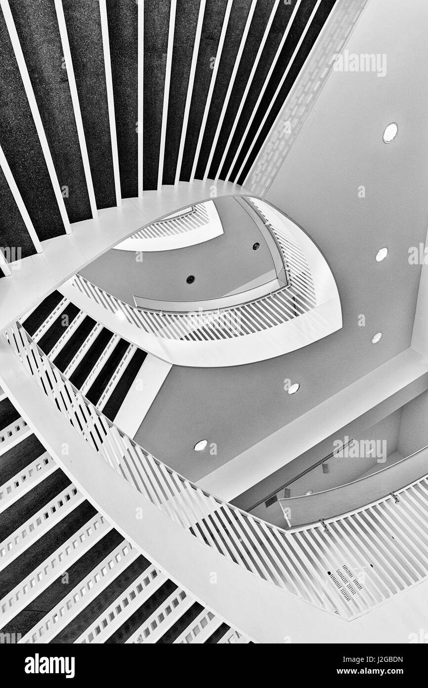 Graphic Composition Of The Spiral Staircase At The Museum Of Contemporary  Art, Chicago, Illinois. (Large Format Sizes Available)