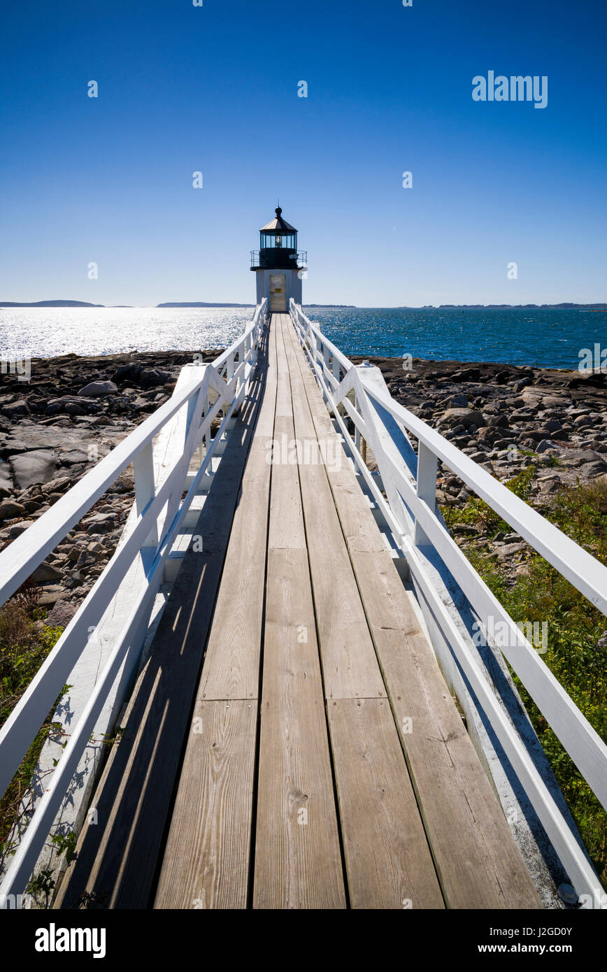 USA, Maine, Port Clyde, Marshall Point Lighthouse - Stock Image