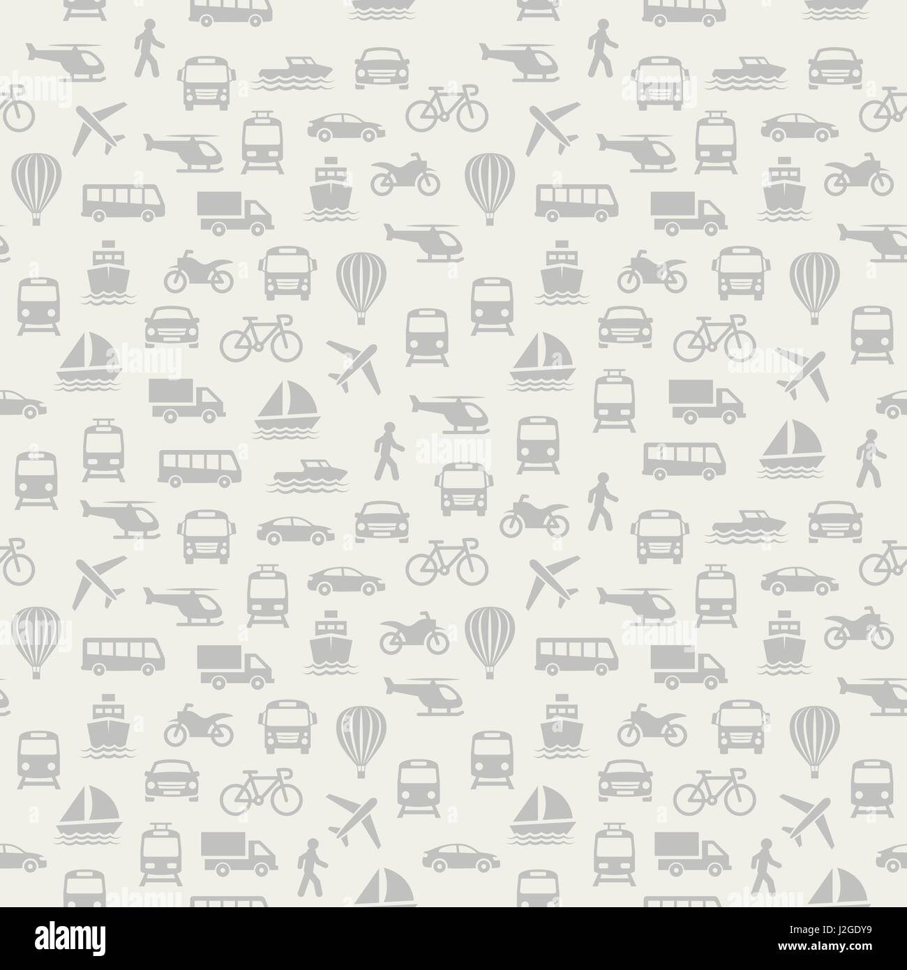 transport seamless pattern background with icons stock vector art
