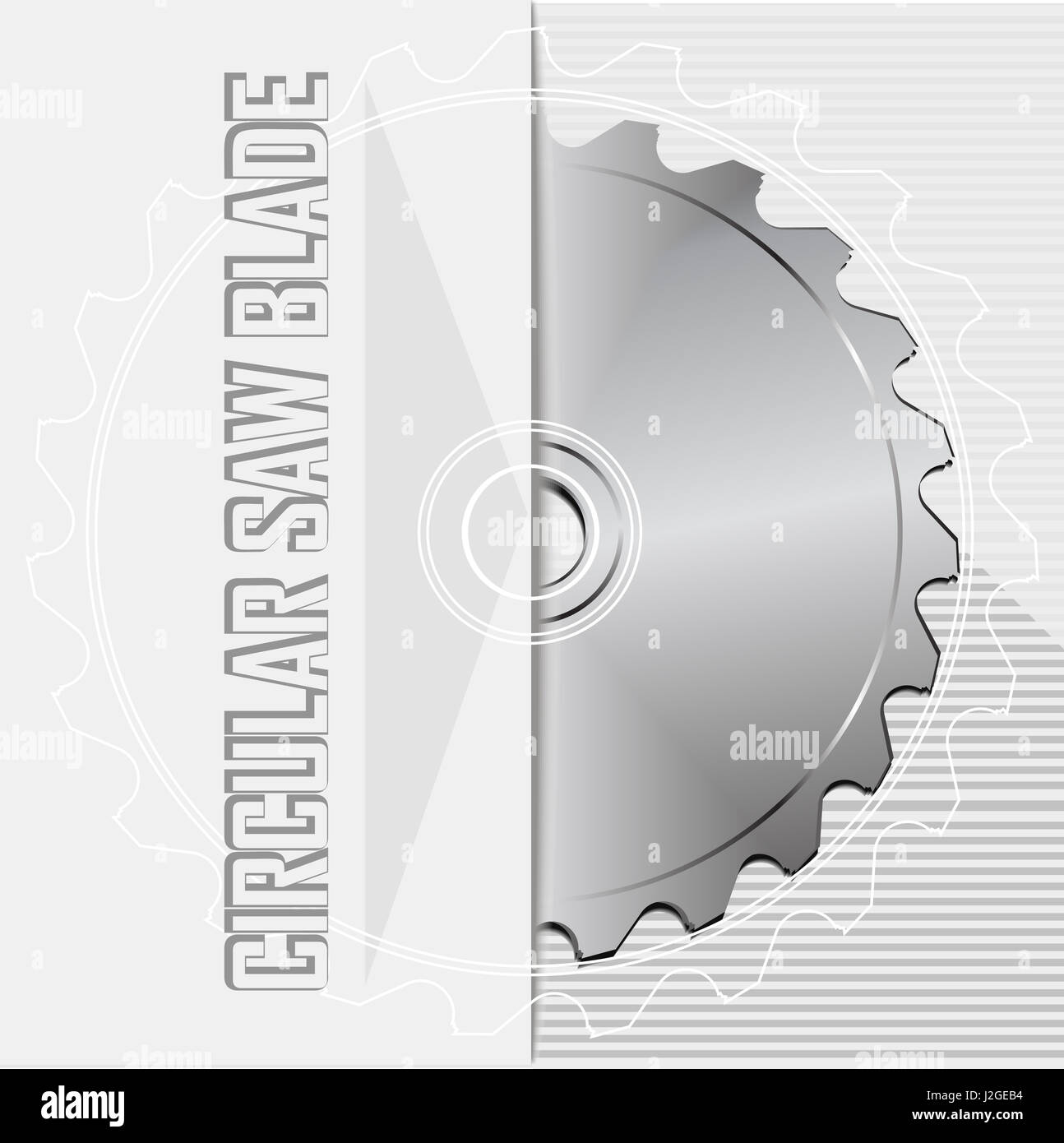 Circular saw blade. Circular saw blade. Cutting disk sign. Vector illustration - Stock Image