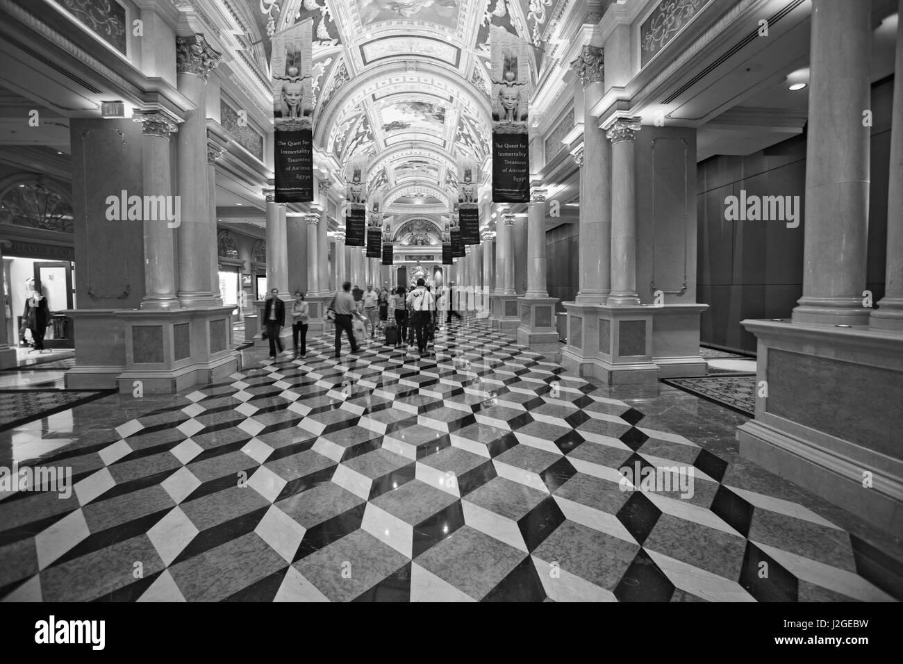 USA, Nevada, Las Vegas. Interior of Venetian Hotel. Credit as: Dennis Flaherty / Jaynes Gallery / DanitaDelimont.com - Stock Image