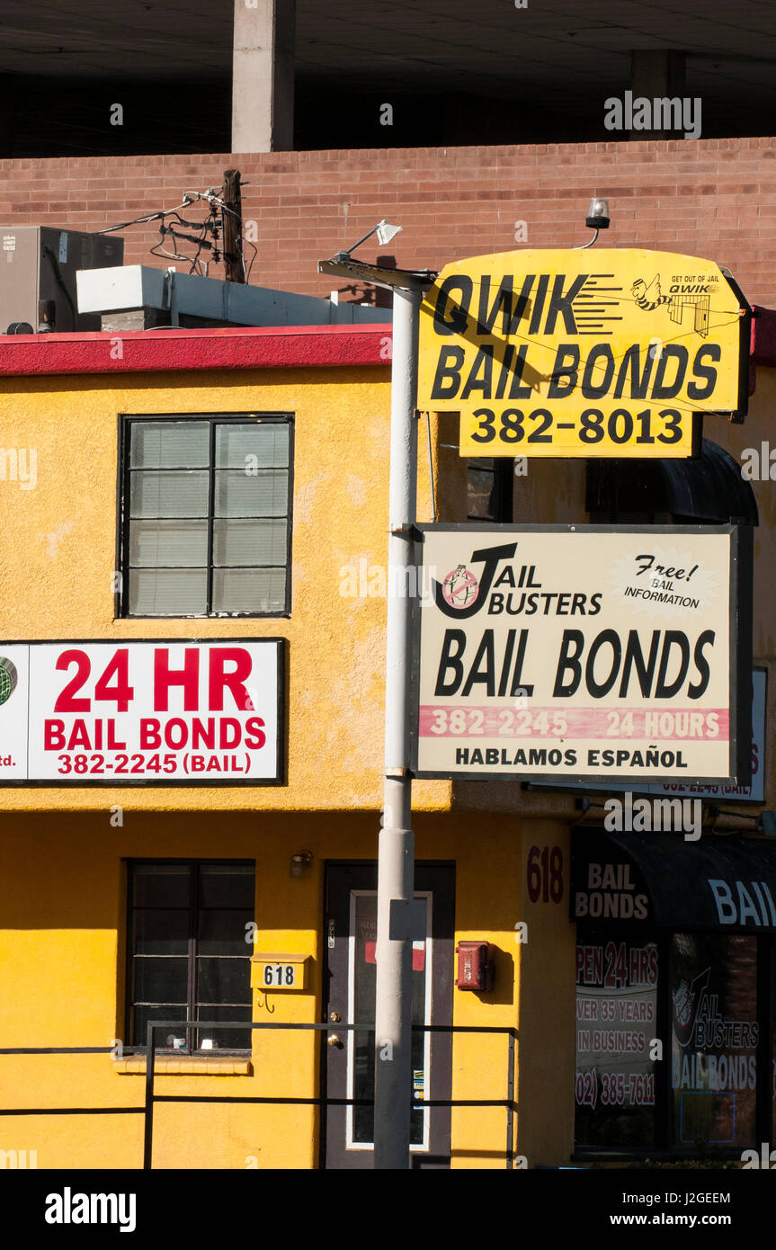 Qwik Bail Bonds Las Vegas, Nevada. - Stock Image