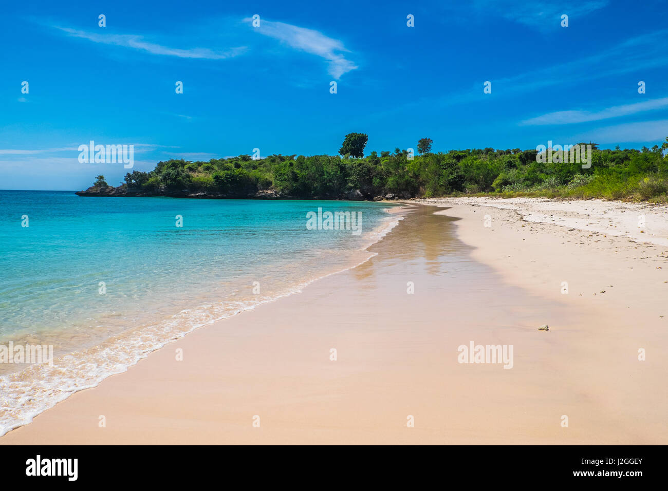 Exotic beach in some remote islands off Lombok Indonesia. - Stock Image