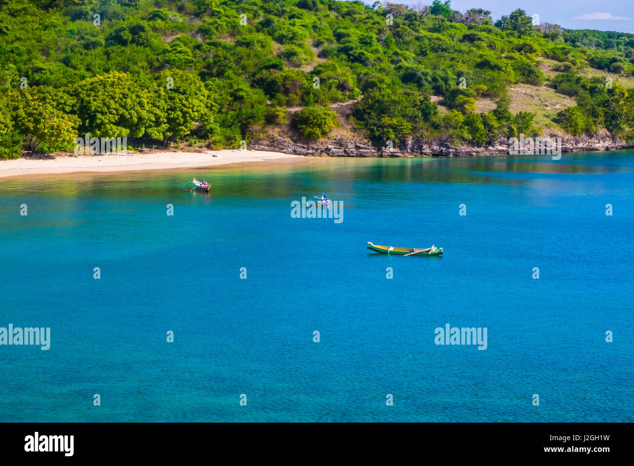 Tropical exotic islands in Lombok Indonesia. - Stock Image
