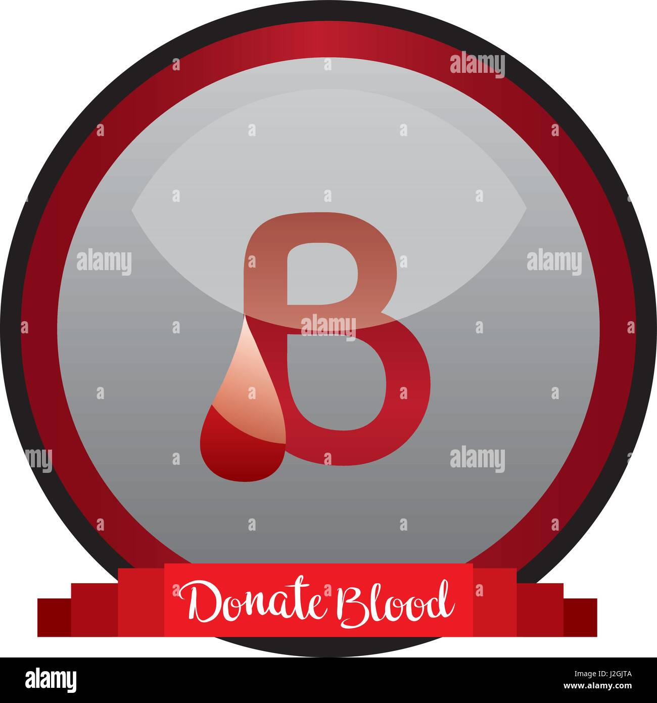 concept of blood donation icon. vector illustration - Stock Image