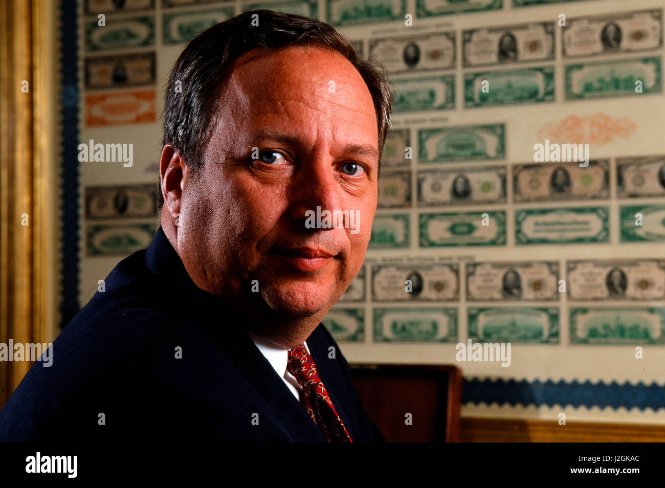 Secretary of the Treasury Lawrence Summers photographed at the Treasury Department on August 23 1999 - Stock Image