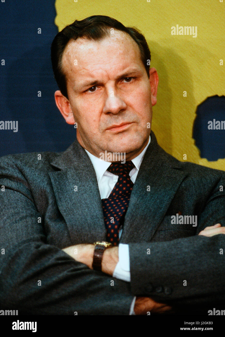 Michael Armacost, National Security Counsel in December 1987 - Stock Image